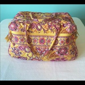 Vera Bradley Weekender in retired print Bali Gold
